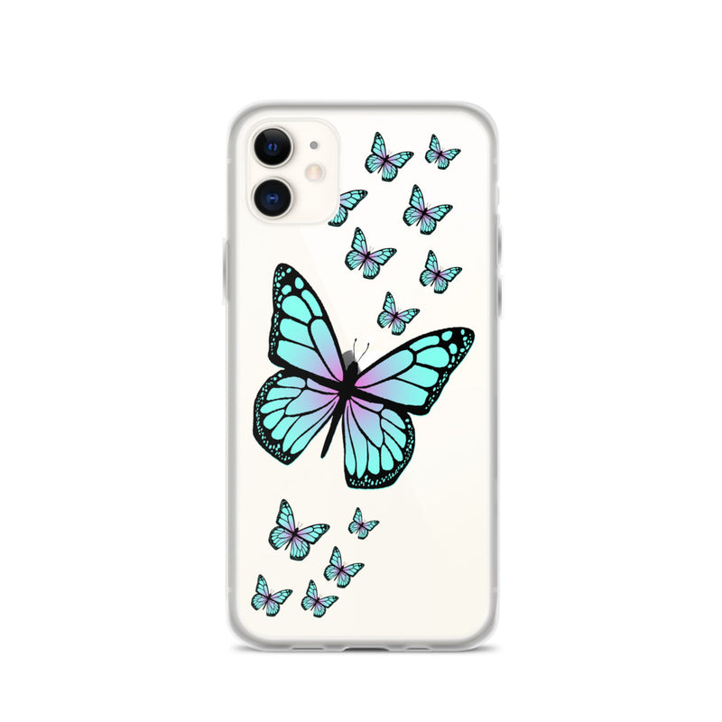 Blue Butterflies iPhone Case
