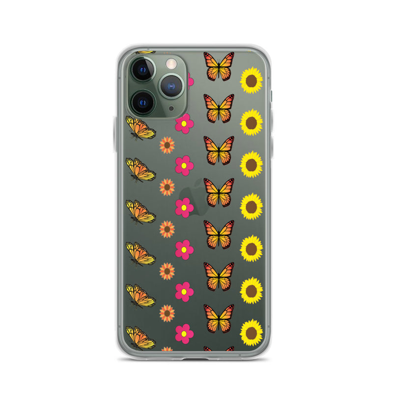 Butterfly Art - Floral iPhone Case