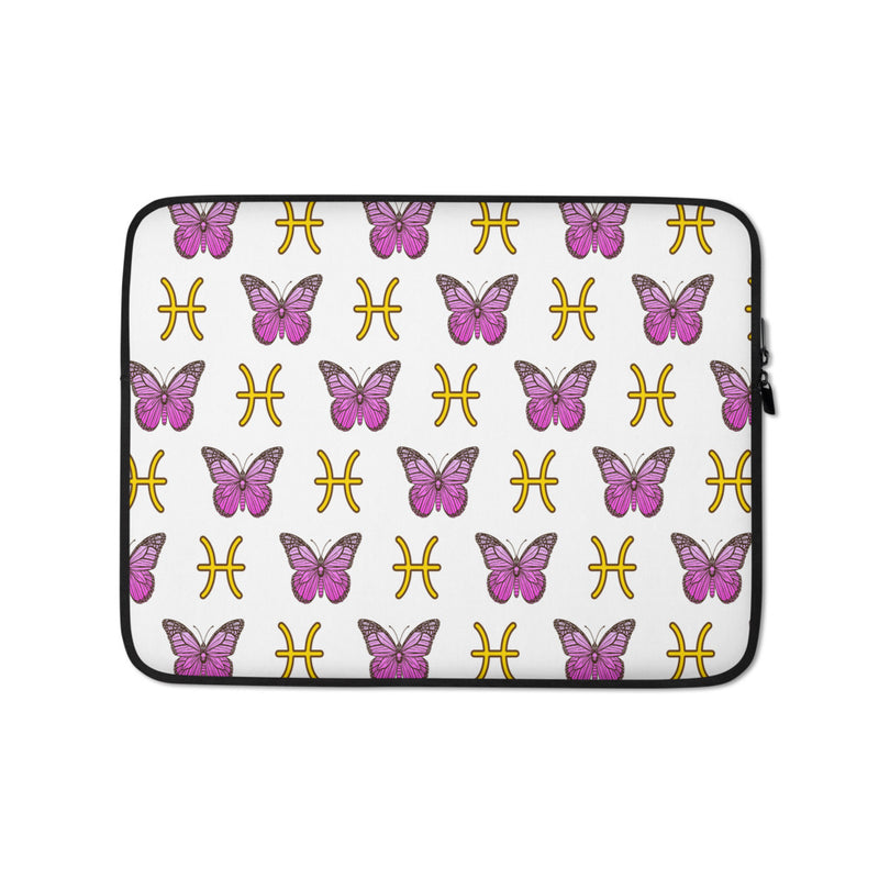 Butterfly Pisces Zodiac Signs Laptop Case