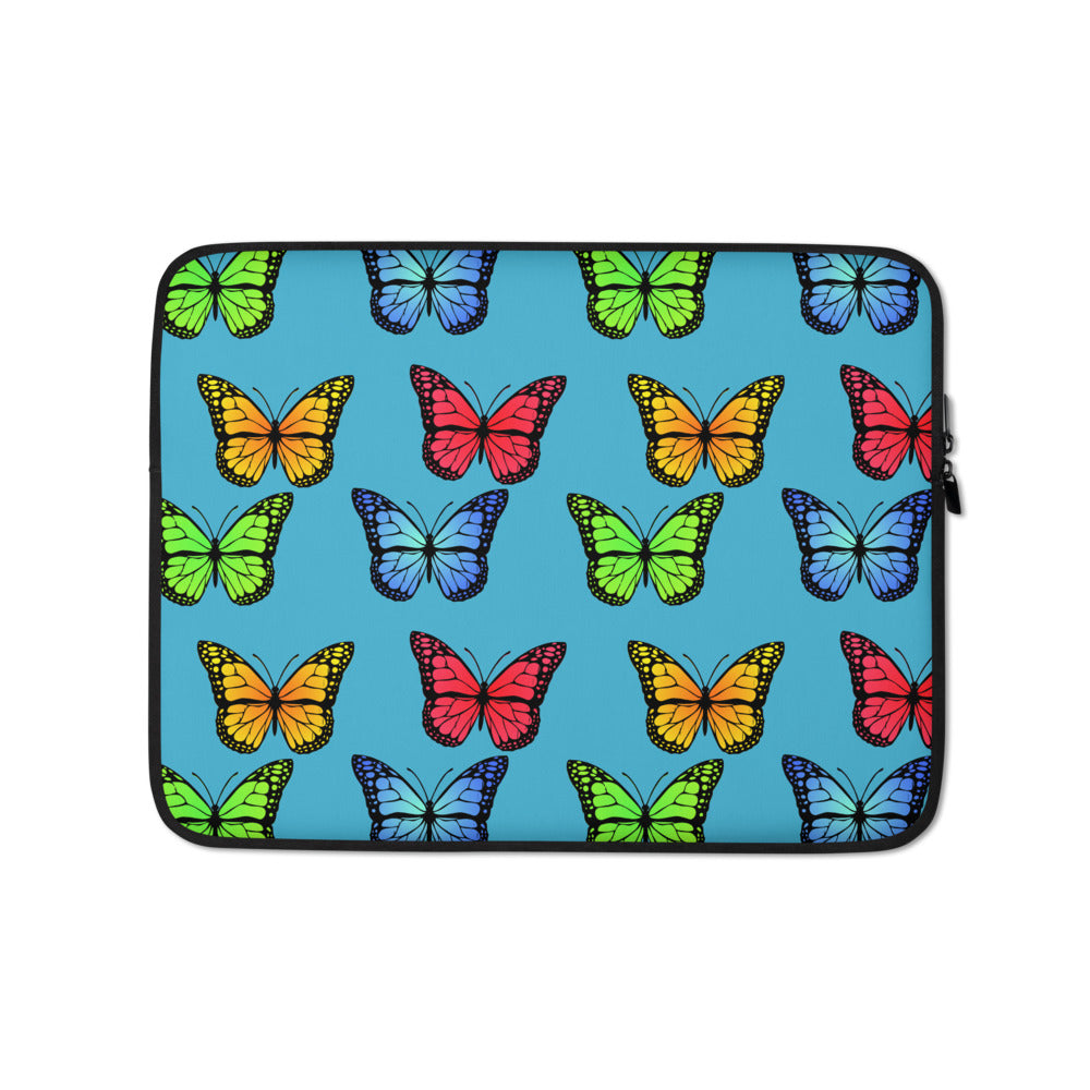 Butterfly Custom Laptop Sleeve - Blue - Butterflyed