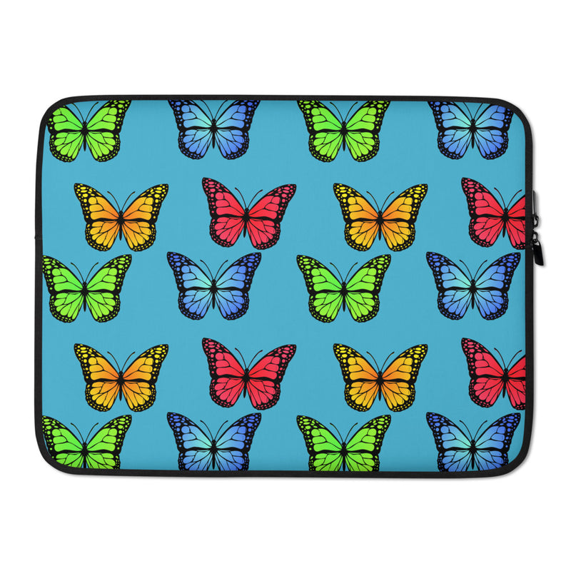 Butterflyed Classic - Multi Laptop Sleeve - Blue - Butterflyed