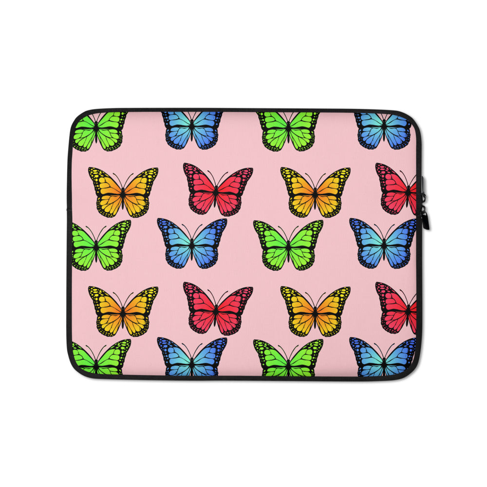 Butterfly Custom Laptop Sleeve - Pink - Butterflyed