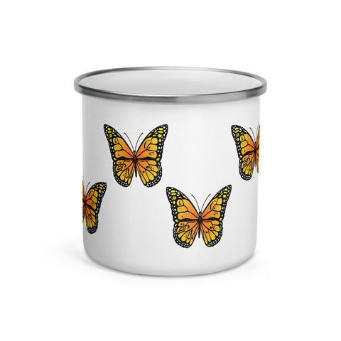 Monarch Butterfly Custom Enamel Mug - Butterflyed