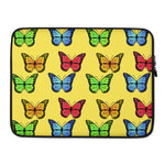 Butterfly Custom Laptop Sleeve - Yellow - Butterflyed