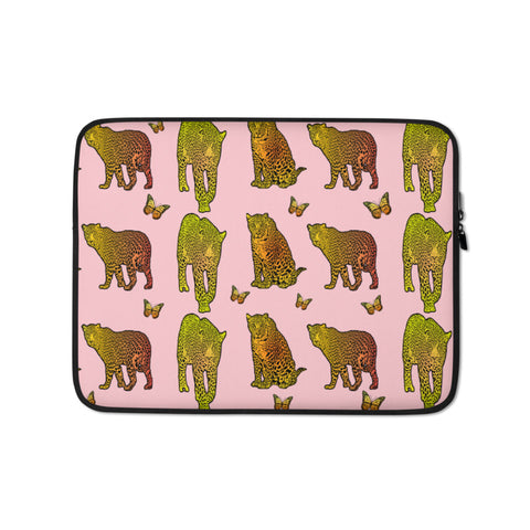 Leopard Custom Laptop Sleeve - Pink - Butterflyed