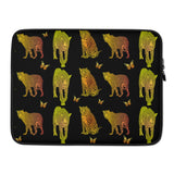 Leopard Custom Laptop Sleeve - Black - Butterflyed