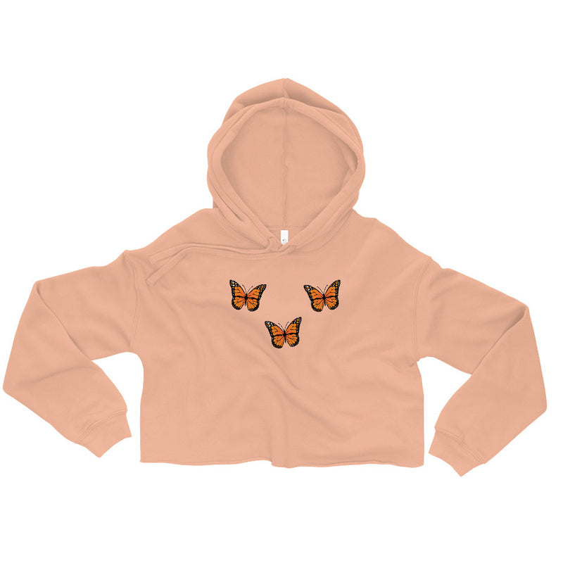Butterflyed Classic - Monarch Crop Hoodie - Butterflyed
