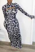 Cutout Back Leopard Print Maxi Dress-Dresses-pinkychloe