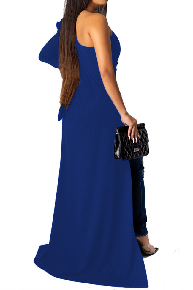 Pleated solid color top coat-Dresses-pinkychloe