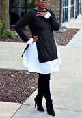 Solid Color Split Shirt Dress-pinkychloe