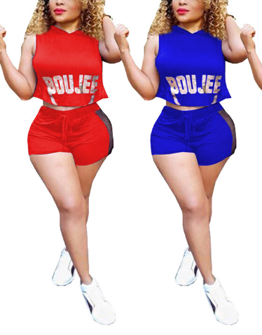 Sleeveless Two Piece Outfits-JUMPSUITS-pinkychloe