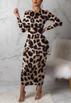 Fashion leopard print dress A-dress-pinkychloe