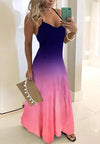 Gradient Women Sleeveless Dress-dress-pinkychloe