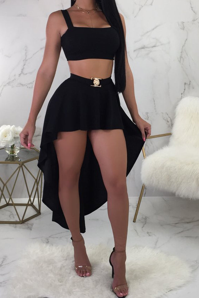 Sexy one-neck suspender skirt-Sets-pinkychloe