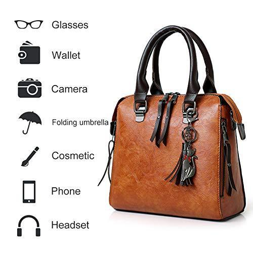 Women's Tassel Shoulder Bags Retro Simple Handbags Wallets Crossbody Multipurpose Bags Set 4 pcs-pinkychloe