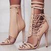 High-Heeled Straps Belt Buckles Cool Boots Roman Fashion Sexy Boots-Shoes-pinkychloe