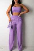 Strapped Ruched Sleeveless Two Piece Outfits-Sets-pinkychloe