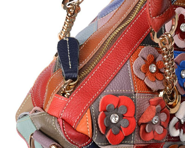 Multi colored Flower Fashion Casual Messenger bag-Accessories-pinkychloe