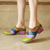 Mosaic Handmade Leather Craft European Shoes Slippers-Shoes-pinkychloe