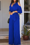Cold Shoulder All-in-One Pant Suit-Jumpsuits-pinkychloe