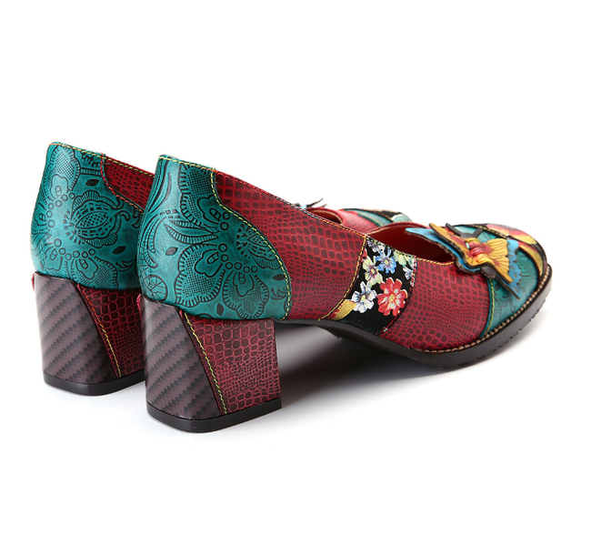 Fashion Handpainted Butterfly Mosaic Shoes-Shoes-pinkychloe