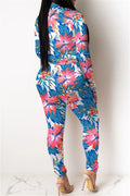 Flower Printed Romper& Pants Sets-Sets-pinkychloe
