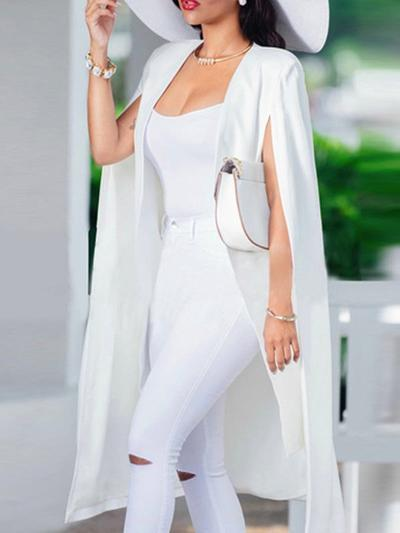 Half Sleeve Maxi Blazer Suits-Dress-pinkychloe