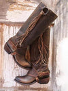 Fringed Long Tube Rider Boots-Shoes-pinkychloe