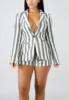 Popular Hot Stripe Cotton Linen Casual Suit-Jumpsuits-pinkychloe