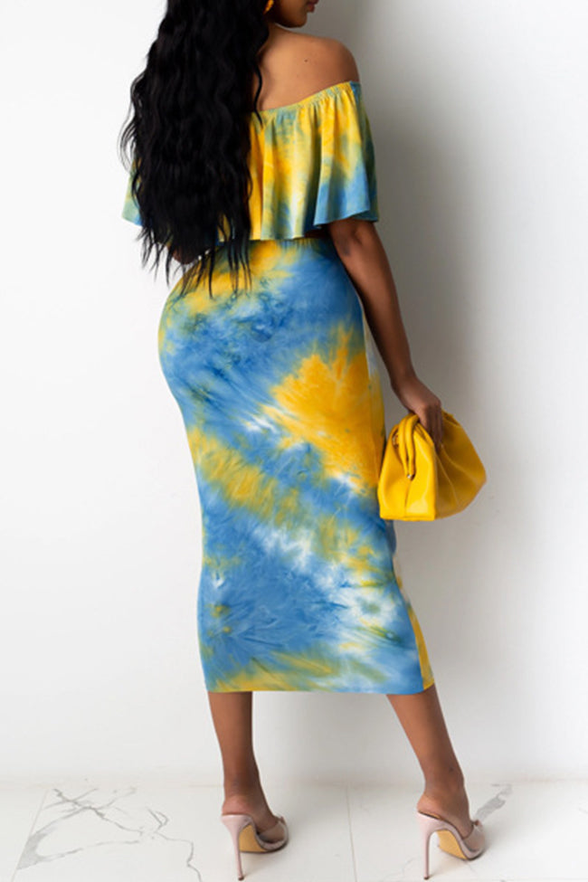 One Hot Mami Tie Dye Skirt Set-Dresses-pinkychloe