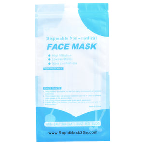 Individually Wrapped 3 Ply Masks w/ Resealable Package