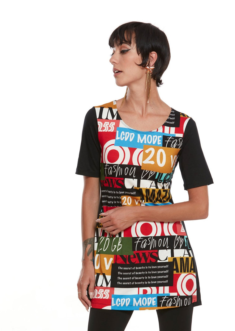 AMAZING Graphic Short Sleeve Tunic