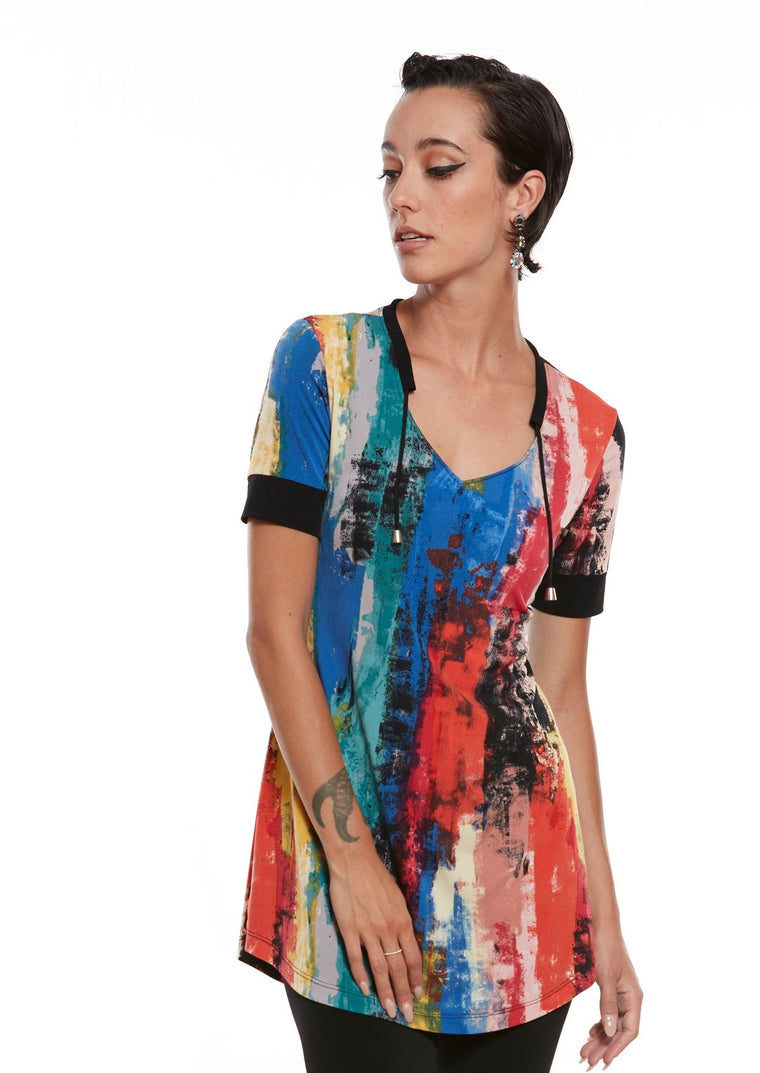 KIK Abstract Printed Tunic