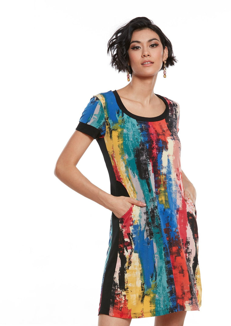KIVA Abstract Print Dress