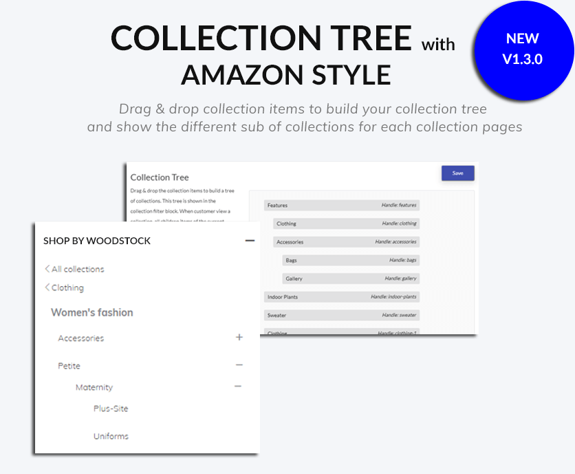 Integrate the Collection Tree from Boostheme Toolkit app
