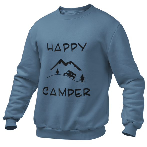 "DAMEN SWEATSHIRT ""HAPPY CAMPER"""