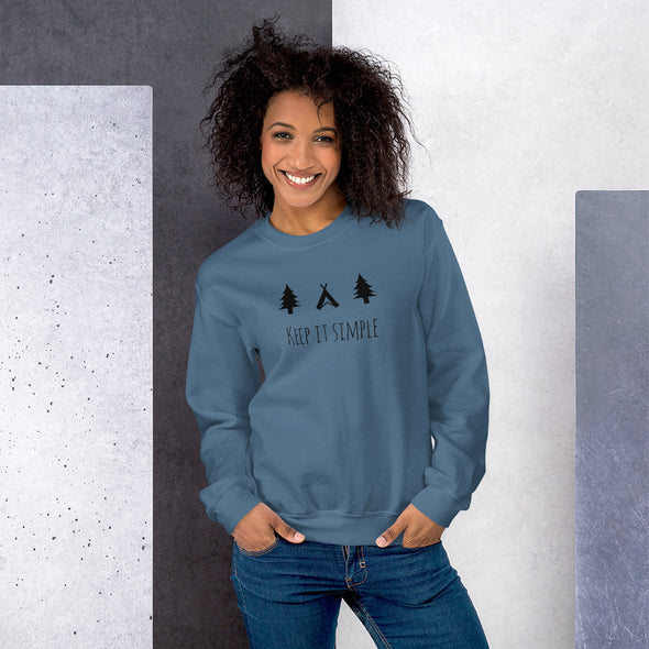 "DAMEN SWEATSHIRT ""KEEP IT SIMPLE"""