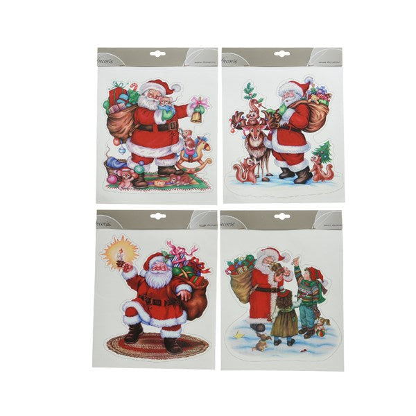 window decorative sticker Santa theme