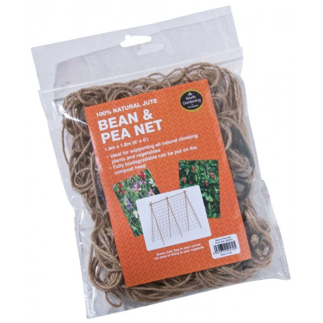 Bean & Pea Net Natural Jute 1.8m x 1.8m
