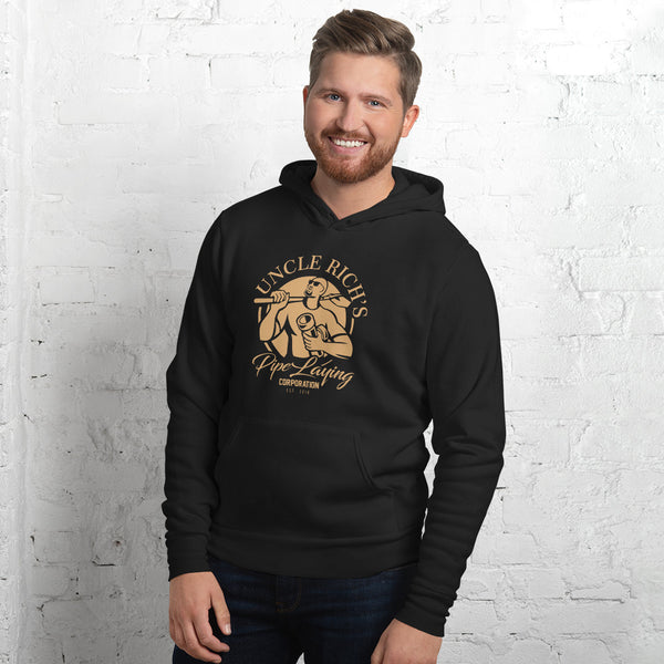 Uncle Rich's Pipe Laying - Men's hoodie