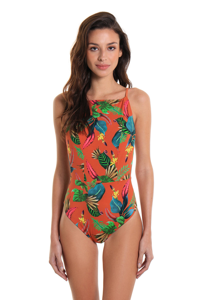 One-Piece Swimsuit Recreio Banana Flower