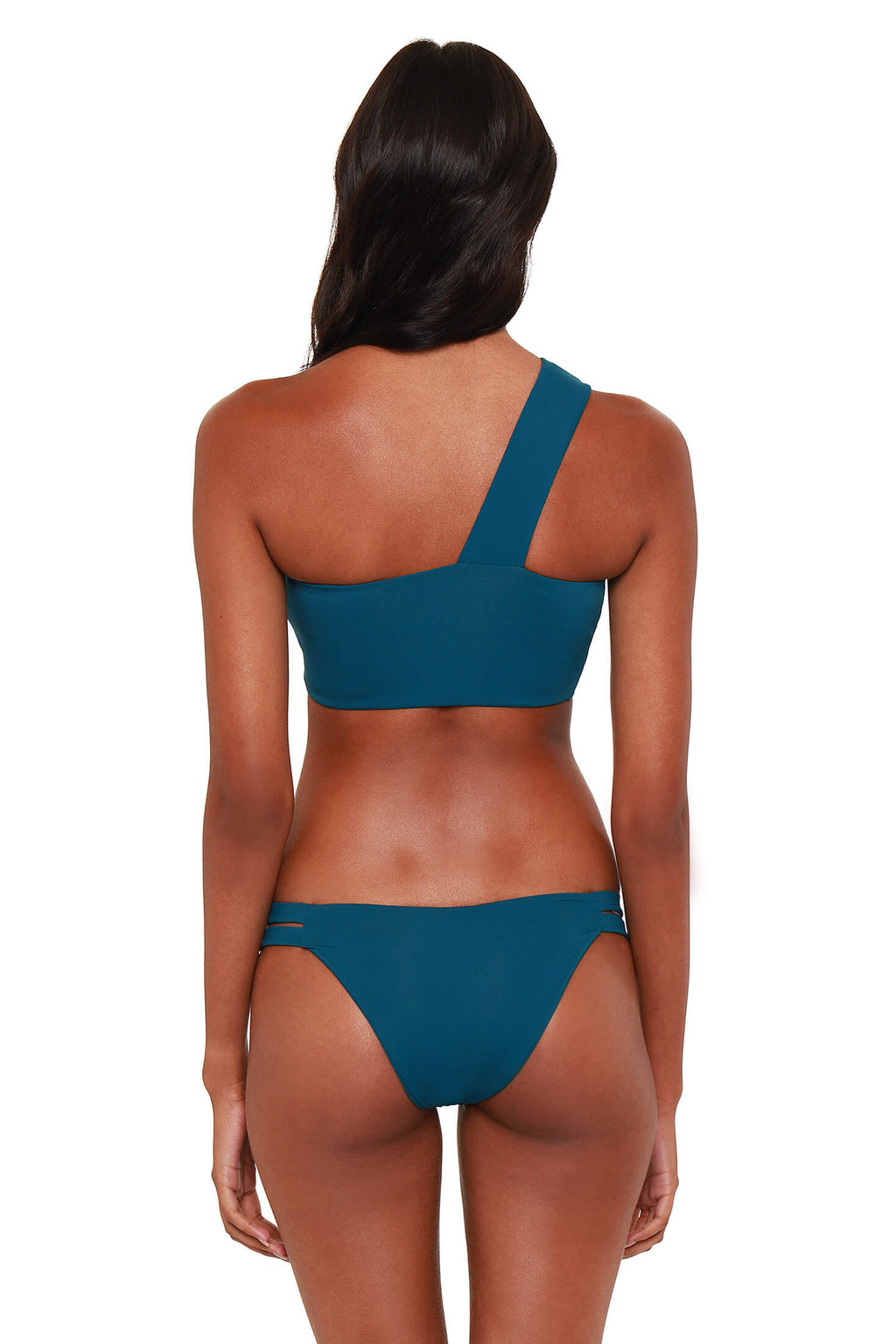 Jeanette Double Side Strap Bikini Bottoms - Sea Floor