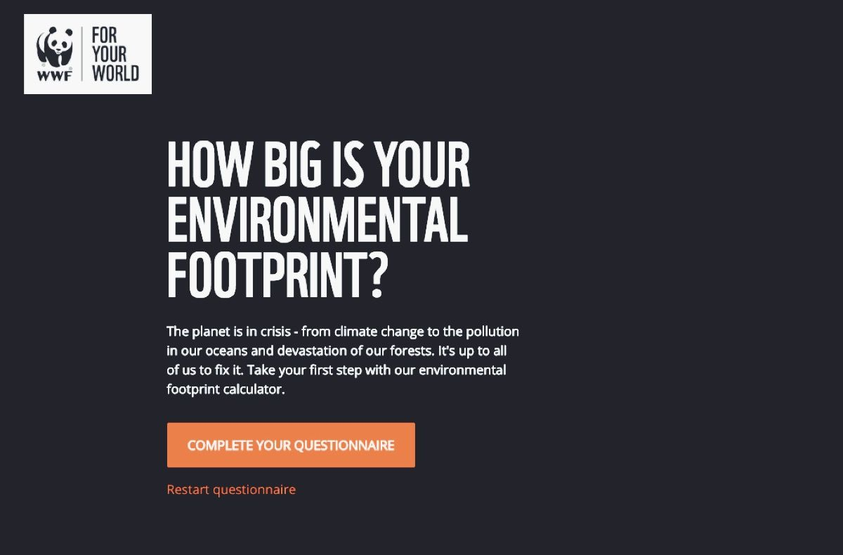 Carbon Footprint  WWF - Mielie Mailer