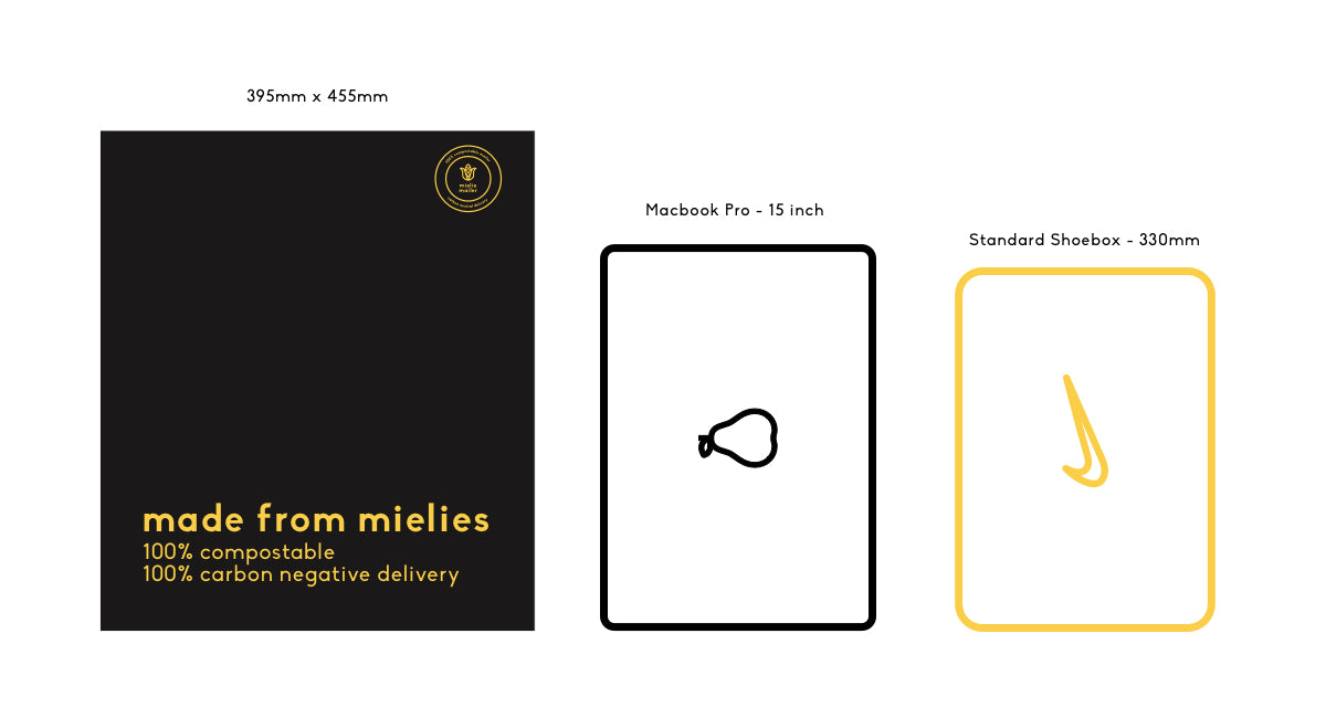 Large Size Guide - Mielie Mailer - eCommerce Delivery Parcel