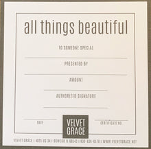 Load image into Gallery viewer, Velvet Grace In-Store Gift Certificate