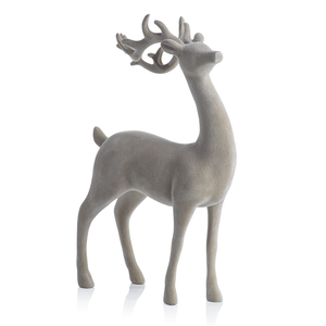 Natural Flocked Deer