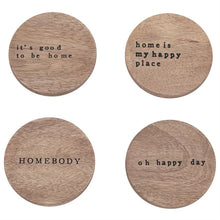 Load image into Gallery viewer, Happy Home Wood Coasters
