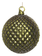 Load image into Gallery viewer, Glass Ball Ornament Dark Green