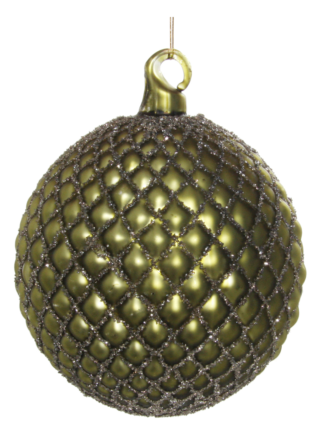 Glass Ball Ornament Dark Green