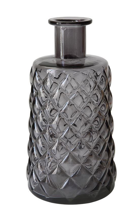 Embossed Glass Vase